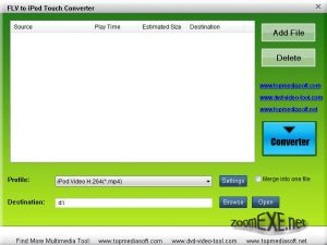 Free FLV to iPod Touch Converter 1.0