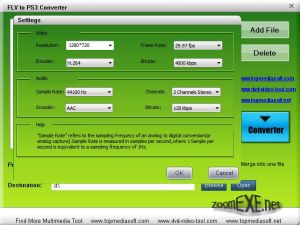 Free FLV to PS3 Converter 1.0