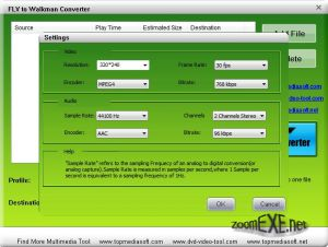 Free FLV to Walkman Converter 1.0