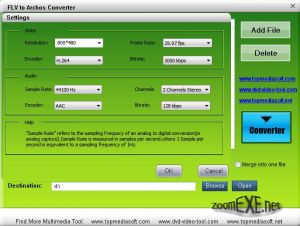 Free FLV to Archos Converter 1.0