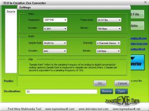 Free FLV to Creative Zen Converter 1.0