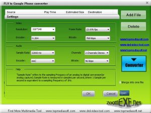 Free FLV to Google Phone Converter 1.0