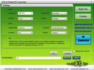 Free FLV to Pocket PC Converter 1.0