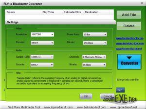 Free FLV to BlackBerry Converter 1.0