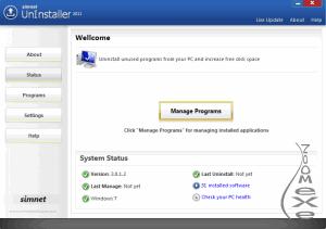 Simnet UnInstaller 2011 3.1.2.3