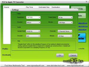 Free FLV to Apple TV Converter 1.0